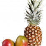 Ripe mango and pineapple — Stock Photo #8136995