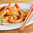 Spicy Shrimp Pad Thai - Stock Photo
