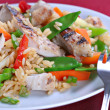 Chicken Stir Fry Rice — Stock Photo
