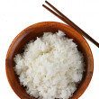 Bowl of Rice Isolated - Stock Photo