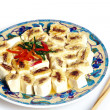 A dish of delicious tofu cuisine — Stock Photo