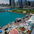 Corner of Chicago Navy Pier at Summer Time — Stock Photo #8137924