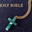 Jade Cross and Bible — Stock Photo