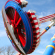 Flying Disc Roller Coaster - Stock Photo