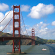 Golden gate bridge in clear day — Stock Photo