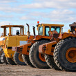 Earth moving equipments — Stock Photo