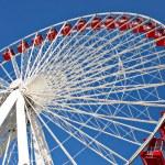 Chicago navy pier giant ferris wheel close up — Stock Photo #8138566