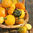 Bucket of gourds — Stock Photo