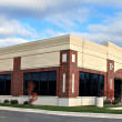 Stock Photo: Small business building panoramview