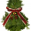 Fresh Natural Christmas Wreath — Stock Photo