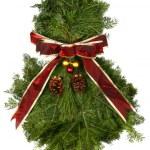 Fresh Natural Christmas Wreath — Stock Photo
