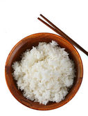 Bowl of Rice Isolated — Stock Photo