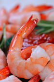 Jumbo Cocktail Shrimp Shallow DOF — Stock Photo