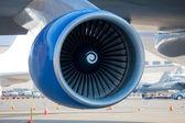 Jumbo Jet Engine Closeup — Stock Photo