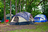 Camping Tents at Campground — Stock Photo