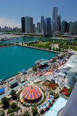Corner of Chicago Navy Pier at Summer Time — Stock Photo