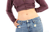 Healthy Female Thin Waist Closeup — Stok fotoğraf