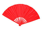 Red Decorative Chinese Paper Fan — Stock Photo