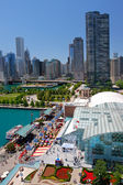 Chicago Navy Pier Aerial View — Stock Photo