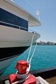 Yacht docked at the Marina — Stock Photo