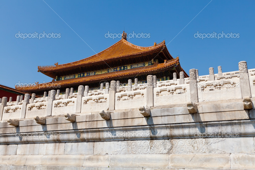 Ancient chinese architecture in the forbidden city (gu gong) of Beijing — Stock Photo #9854467