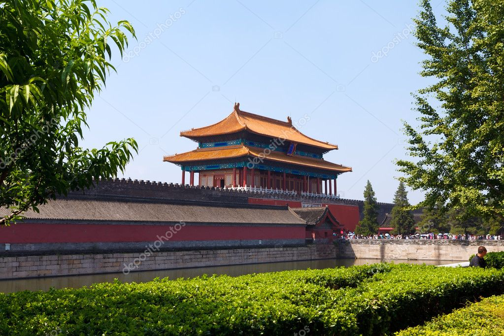 la storica citt proibita a pechino foto stock