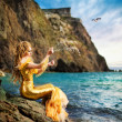 Young beautiful girl in the image of a mermaid — Stock Photo #8076083