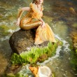 Stock Photo: Young beautiful girl in image of mermaid