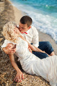 Young and beautiful newly-married couple — Stock Photo