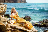 Young beautiful girl in the image of a mermaid — Stock Photo