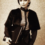 Портрет молодой женщины в Осенний парк — Стоковое фото