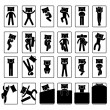 Sleep Sleeping Position Style Posture Method Bed - Stock Vector