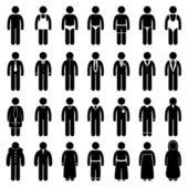 Homem usa o design de estilo de moda vestuário — Vetorial Stock
