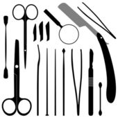 Dissection Tools Equipment and Kits — Stock Vector