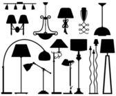 Lampe design pour sol mur plafond — Vecteur