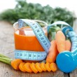 Diet with vegetables — Stock Photo
