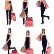 Shopping collage — Stockfoto