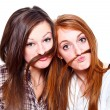 Friends with moustache — Stock Photo #8700914