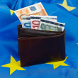 Flag and euro — Stock Photo