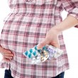 Pills for pregnant woman — Stock Photo