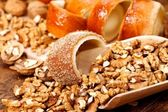 Sweets with nuts — Stock Photo