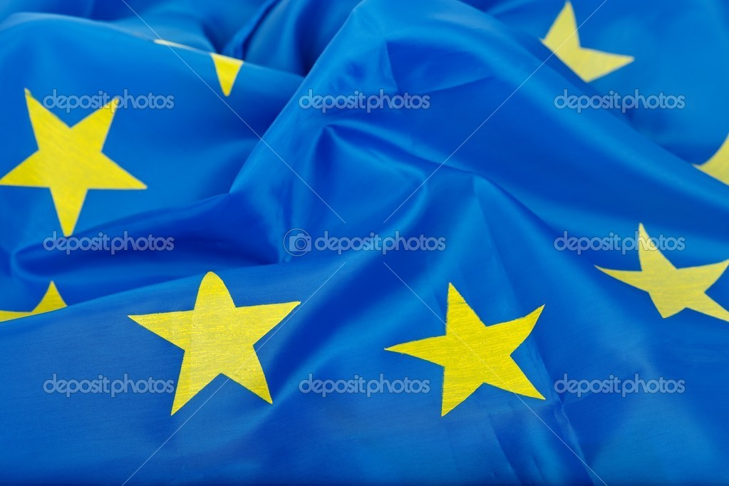 Flag of the European Union, blue and yellow — Stock Photo #9699222