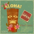 Vintage Hawaiian postcard — Vector de stock #10235802