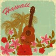Royalty-Free Stock Vector Image: Vintage Hawaiian postcard