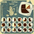 Stock Vector: Vintage infographics set - types of coffee drinks
