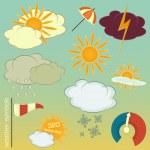 Weather symbols set — Stock Vector