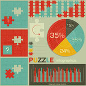 Elements of puzzle for infographic — Stock Vector