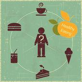 Concetto di cibo sano — Vettoriale Stock
