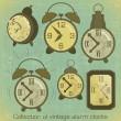 Vintage Alarm Clocks — Stock Vector #10546788