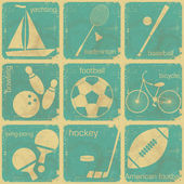 Set of vintage sport labels — Stock Vector